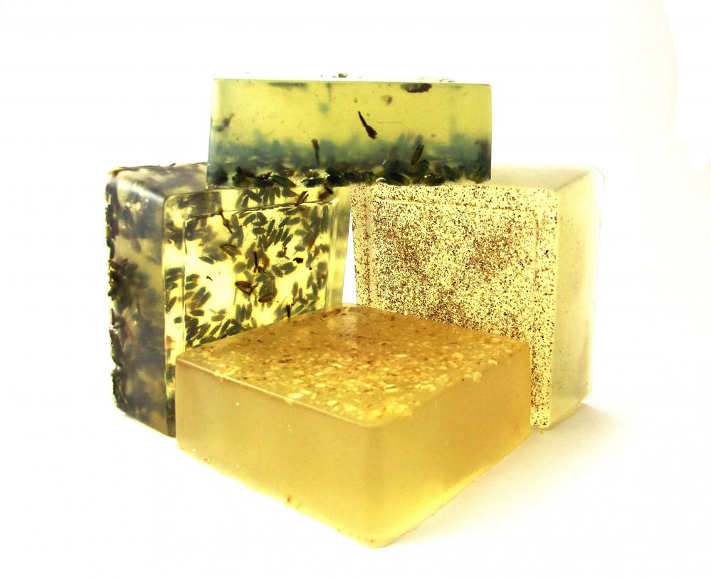 Soap Set of 4 - Aloe Vera - Lavender, Honey, Oatmeal, Apricot - Dry Sensitive Skin